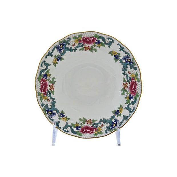 Set of six Royal Doulton bowls in Floradora pattern. Maker's mark on underside. Light wear.