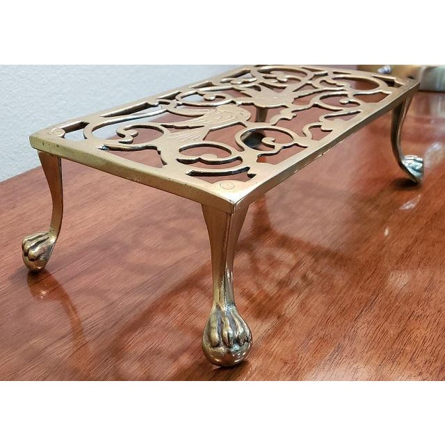 George III Style Brass Fireplace Trivet For Sale In San Francisco - Image 6 of 7
