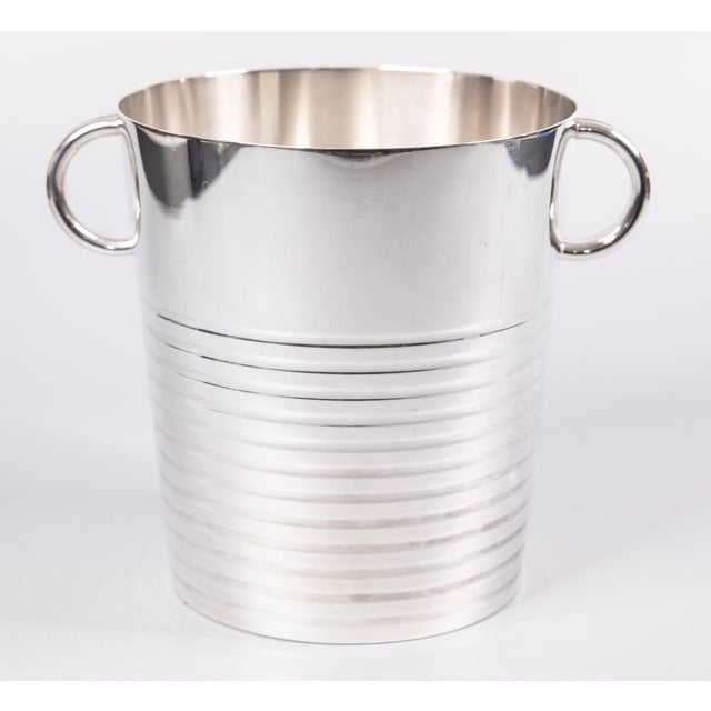 Silver Art Deco French Christofle Silver Plate Champagne Bucket For Sale - Image 8 of 8