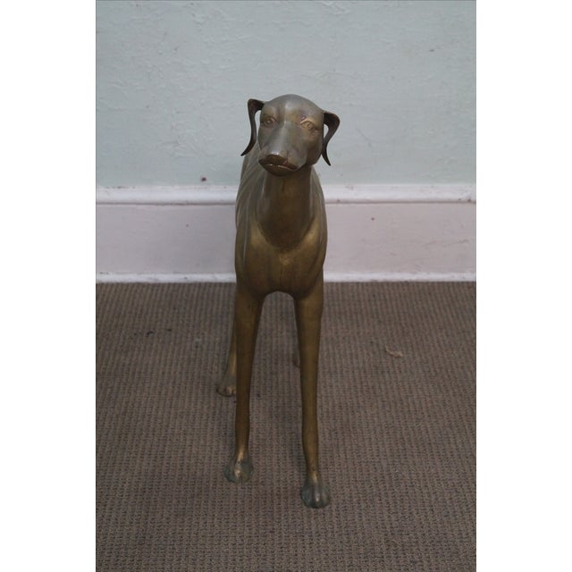 Vintage Brass Whippet Greyhound Dog Statue - Image 10 of 10