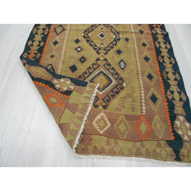 Handwoven Antique Turkish Kilim Rug - 2′6″ × 4′5″ For Sale - Image 5 of 5