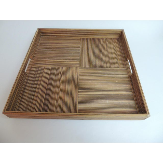 Large Square Bamboo Serving Tray - Image 2 of 6