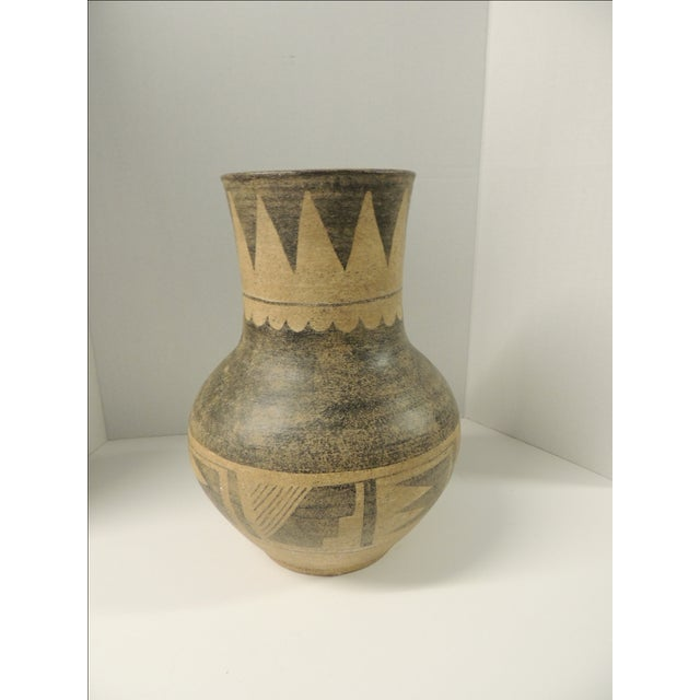 Vintage Mexican Large Terracotta Vase - Image 2 of 4
