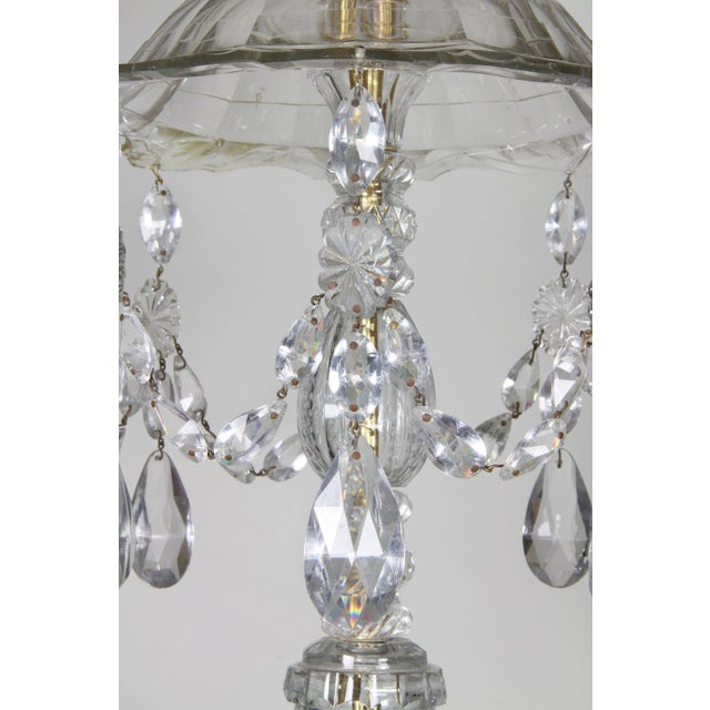 Georgian Anglo Irish Cut Glass Chandelier For Sale - Image 3 of 9