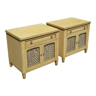 Vintage Kindel French Country Cottage Cream Nightstands - A Pair For Sale