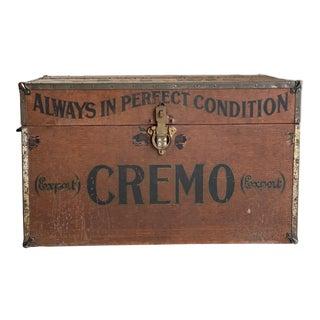 Mid 20th Century Vintage Cremo Cigar Humidor Trunk For Sale