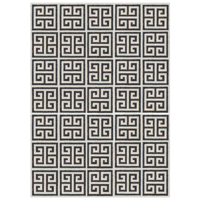 Jonathan Adler Handmade Rug 100% Wool made in Peru. Reversible in Black & White 4 X 6 - $500.00