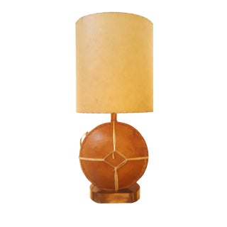 1970s Moroccan Leather Flask / Bottle Table Lamp For Sale