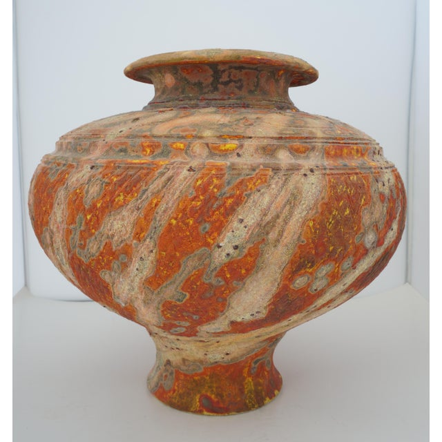 Vintage Peter Andersson Australia Glazed Earthenware Artisan Pot or Vase With Papers For Sale In West Palm - Image 6 of 11