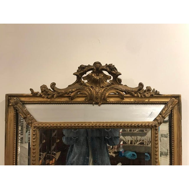 Antique Régence Style Pareclose Mirror - Image 4 of 8