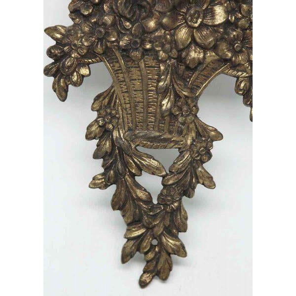 Bronze Louis XVI Basket Appliques - A Pair For Sale - Image 7 of 8