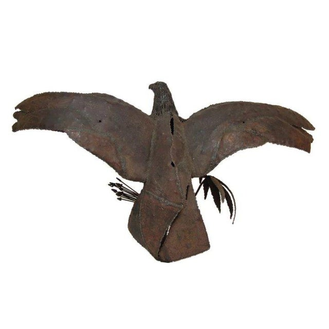 Late 20th Century Symbolic American Bald Eagle Pieced Steel Sculpture For Sale In Chicago - Image 6 of 7