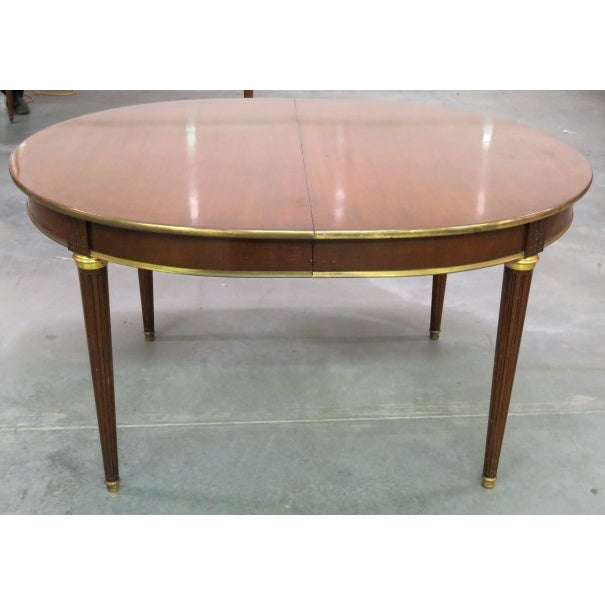 Louis XVI Style Bronze Mounted Dining Table - Image 3 of 8