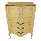 Image of French Provincial Louis XV Style Walnut Tall Chest Dresser by John Widdicomb For Sale