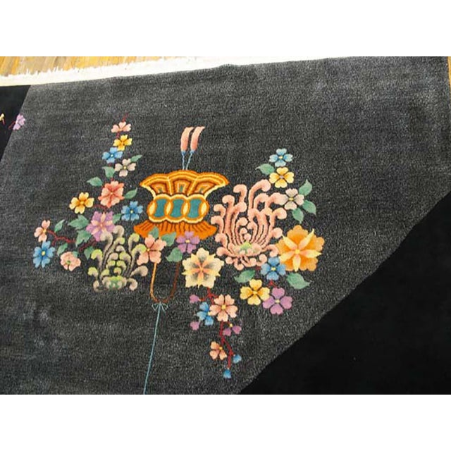 1920s Antique Chinese Art Deco Rug- 8′ × 10′ For Sale - Image 5 of 6