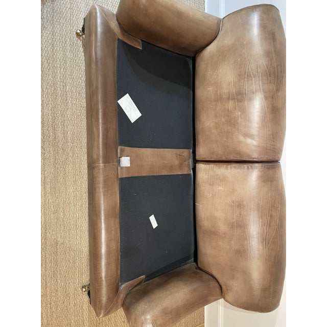 George Smith Leather Sofa For Sale - Image 10 of 12
