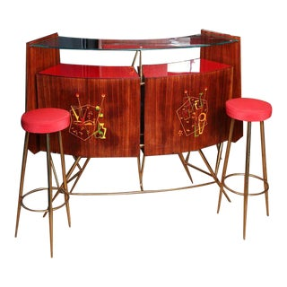 Original 1950s Italian Bar Set