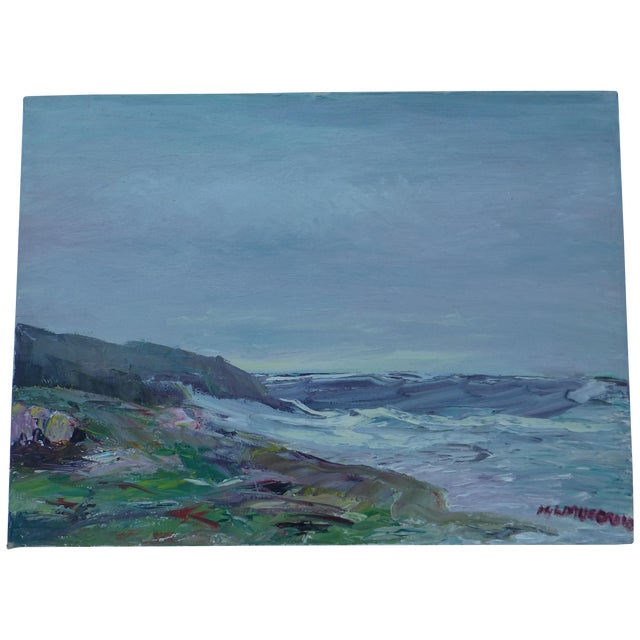 Abstract Beach Painting by H.L. Musgrave - Image 1 of 7