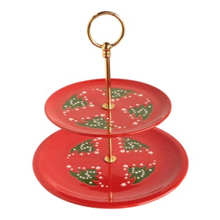 Waechtersbach Christmas Tree Two Tiered Cookie Serving Tray For Sale