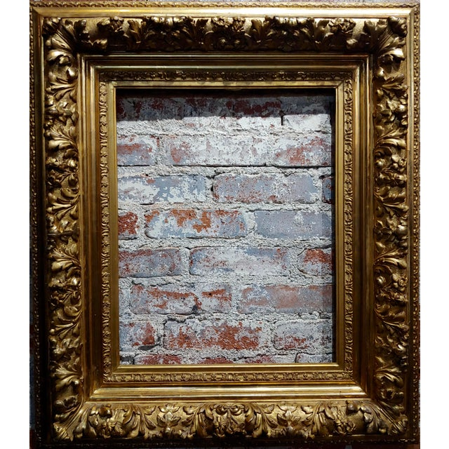 "19th century -Highly Carved & Ornate gilt-wood Frame frame size 30 x 35"" inside frame 17 x 22"" A beautiful piece that will..."