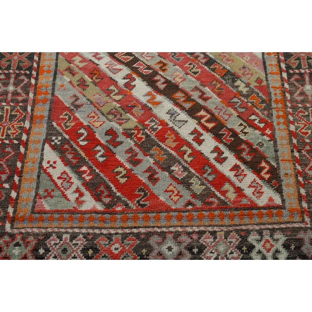 Antique Kurdistan Hand Made Tribal Rug - 4' X 7' For Sale In Los Angeles - Image 6 of 10