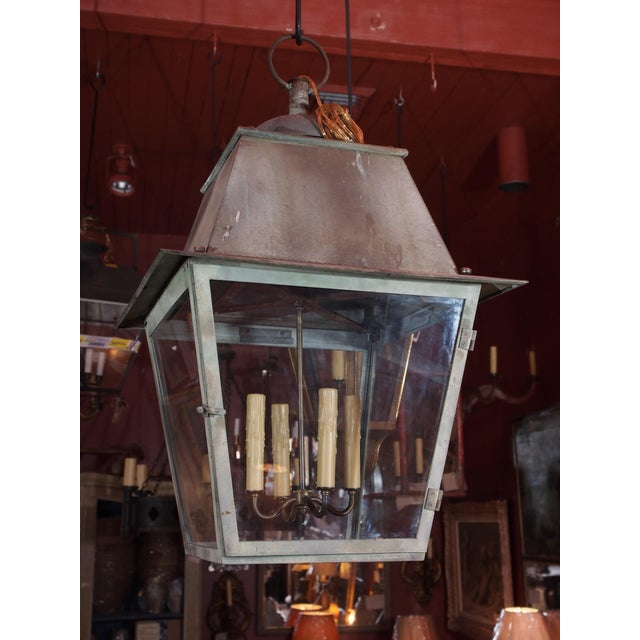 19th Century French Copper Lantern For Sale In New Orleans - Image 6 of 6
