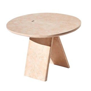 Lasta Coffee Table or Side Table Table High in Pink Marble by Alberto Bellamoli For Sale