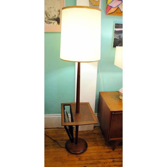 Laurel Lighting Inc. Laurel Mid-Century Floor Lamp With Table & Magazine Holder For Sale - Image 4 of 10