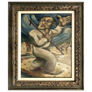 Latin American Oil Painting Manner of Diego Rivera, 1920s-1930s For Sale
