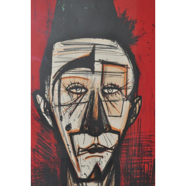 "Bernard Buffet ""Clown with Fez"" Lithograph c.1968 - Image 3 of 7"
