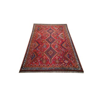 Vintage Persian Hand Made Knotted Rug - 5x8 For Sale