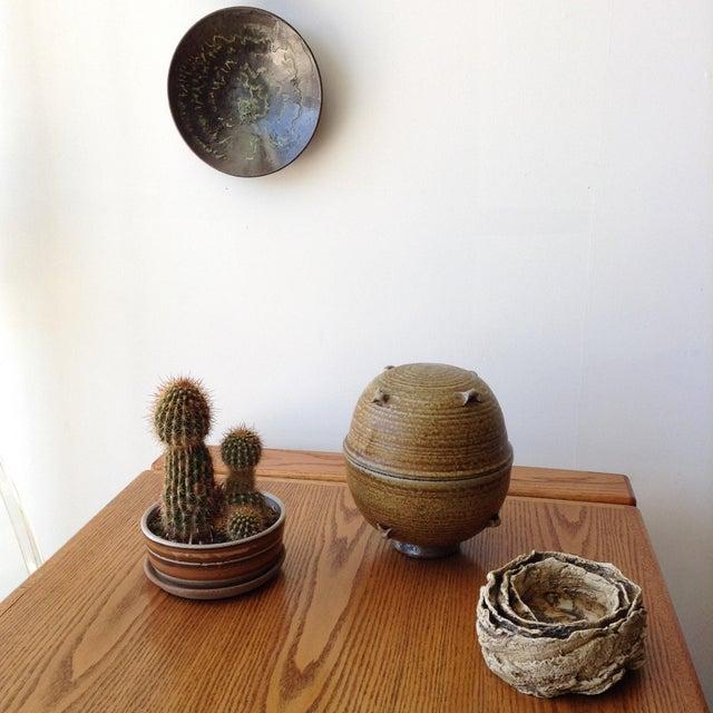 Vintage 1960s Ceramic Vessel For Sale - Image 4 of 9