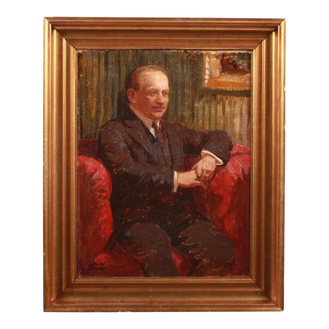 Luplau Janssen Portrait of a Man, c. 1920 For Sale