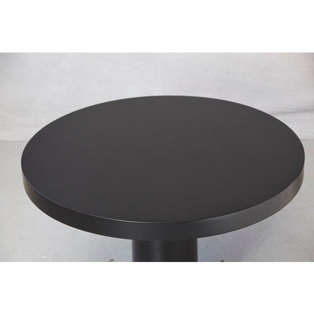 Modern Puristic Oak Center Table in New Black Finish, 1960s For Sale - Image 9 of 12