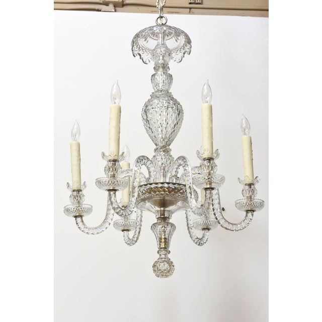 Traditional Six Arm Early Waterford Chandelier For Sale - Image 3 of 9