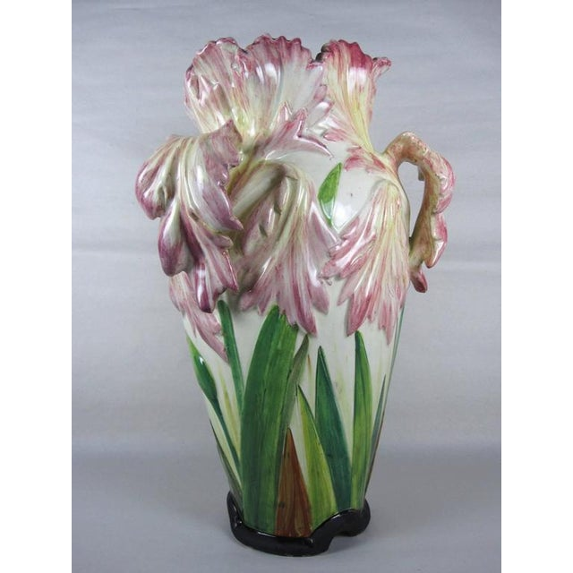 Delphin Massier, Vallauris Parrot Tulip Vase, Southern France Late 19th Century - Image 5 of 11