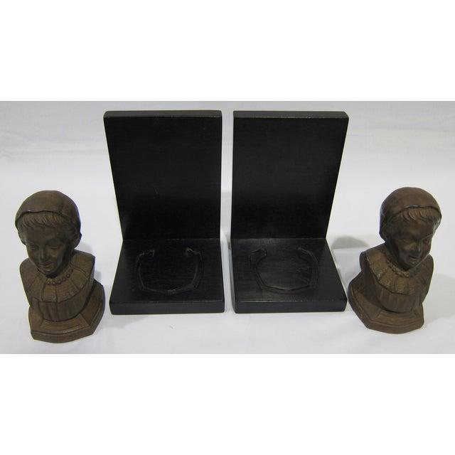 Vintage Sarreid LTD Cast Iron & Wood Bookends - A Pair - Image 4 of 6