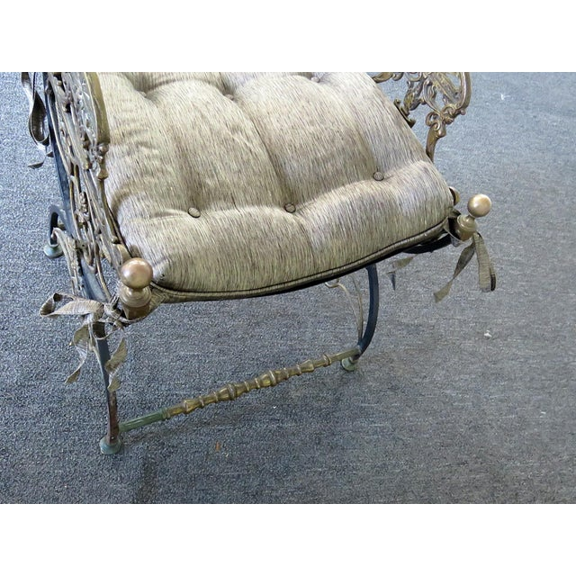 Antique Regency Style Iron Bench For Sale - Image 4 of 6