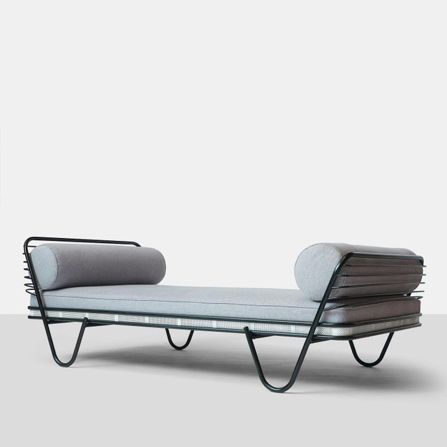 """""""Kyoto"""" Daybed by Mathieu Mategot A daybed designed by Mathieu Mategot and manufactured by Atelier Mategot. The frame is..."""