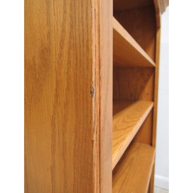 Ethan Allen Chippendale Canterbury Oak Dresser Hutch Top Shelf - Image 8 of 9
