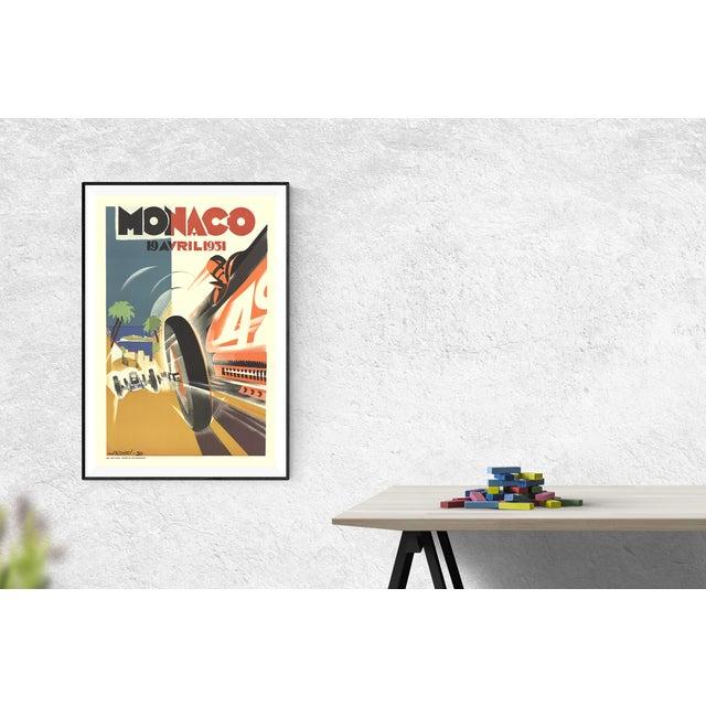 Art Deco Robert Falcucci, Monaco Grand Prix 1932, 1983 For Sale - Image 3 of 3