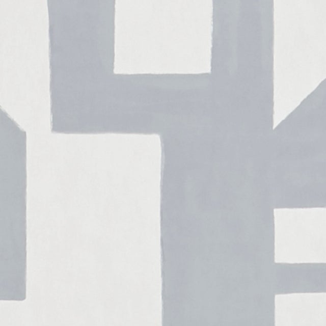 Early 21st Century Schumacher Binary Wallpaper in Silver For Sale - Image 5 of 6