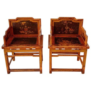 Pair of Meiguiyi Rose Chairs, Circa 1880 For Sale