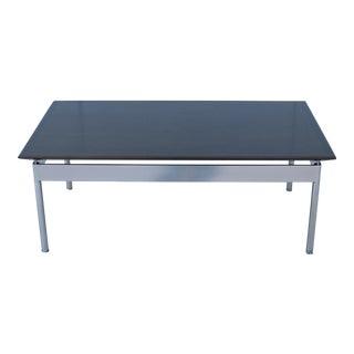 Mid-Century Modern Geiger Garrett Rectangular Walnut Top Steel Base Coffee Table For Sale
