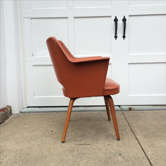 Thonet Mid-Century Burnt Orange Chairs - A Pair - Image 5 of 10