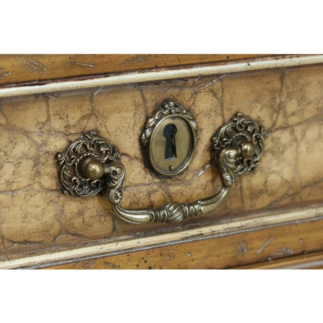 Maitland - Smith Maitland Smith Regency Style Leather Wrapped Chest Dresser For Sale - Image 4 of 12
