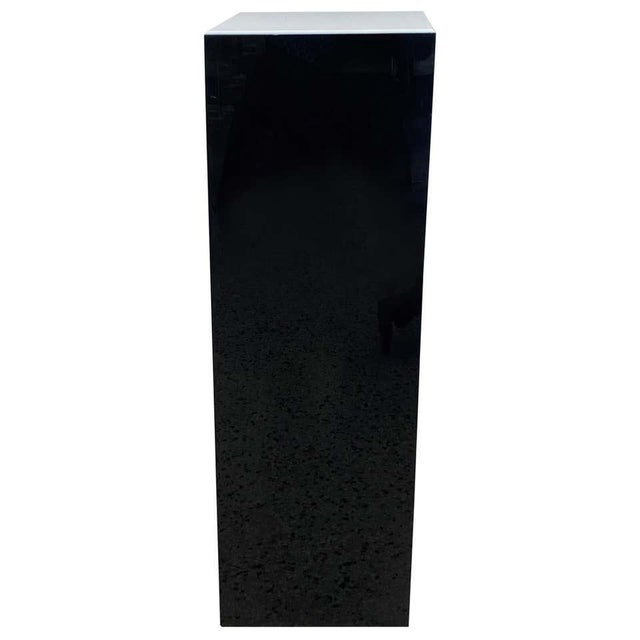 Vintage Pedestal Illuminated Black and White Lucite For Sale - Image 12 of 12
