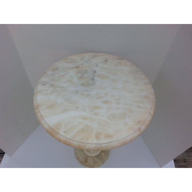 Classic Alabaster Side Table - Image 3 of 4