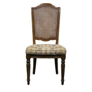 Late 20th Century Vintage Ethan Allen Classic Manor Cane Back Side Chair For Sale