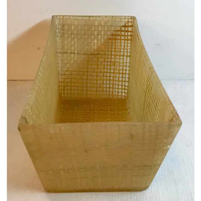Mid-Century Modern Vintage Mid Century Lucite and Twine Planter For Sale - Image 3 of 7